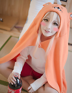 Inspired by Himouto Cosplay Anime Cosplay Costumes Cosplay Hoodies Solid / Print Orange Long Sleeve Cloak