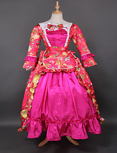 Rococo Princess Wholesalelolita Rose Red Printing Lolita Prom Dress Marie Antoinette Dress Floor-lenght  Evening Dress
