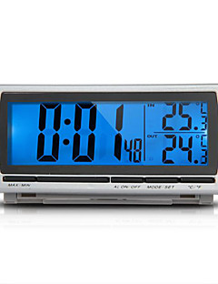 Car F/C Thermometer Clock Alarm LED Blue Backlight Digital LCD Display 12V