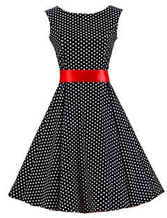 שמלה - עד הברך - כותנה - וינטאג' - כולל חגורה