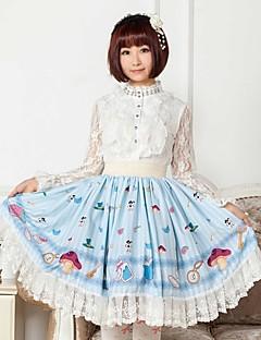 Blue Stripe Alice   Lolita  Skirt Lovely Cosplay