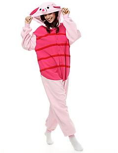 着ぐるみ パジャマ 仔ブタ/ブタさん子豚/ブタ レオタード/着ぐるみ イベント/ホリデー 動物パジャマ ハロウィーン パッチワーク フリース きぐるみ ために 男女兼用 ハロウィーン