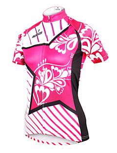 ILPALADINO Jerseu Cycling Pentru femei Mânecă scurtă Bicicletă Jerseu TopuriUscare rapidă Rezistent la Ultraviolete Respirabil Compresie