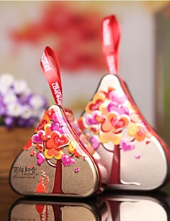 1 Piece/Set Favor Holder - Heart-shaped Metal Gift Boxes Non-personalised