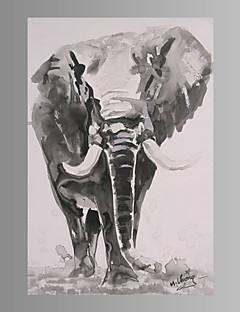Animal / Fantasia / Moderno Impressão em tela Um Painel Pronto para pendurar , Vertical