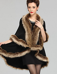 Women Raccoon Fur Shawl & Wrap , Without Lining