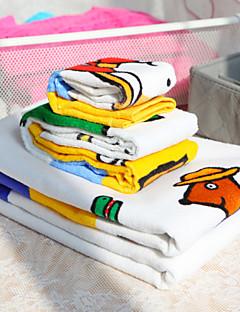 4-teilig aus 100% Baumwolle Karikatur Druck Handtuch-Set