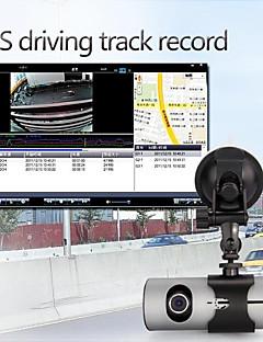 2.7 인치 LCD 듀얼 카메라 렌즈 자동차 대시 DVR 캠 캠코더 레코더 GPS