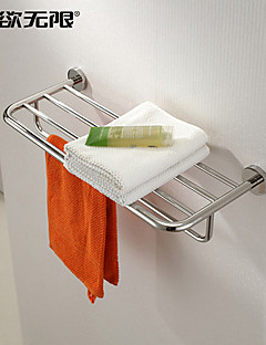 "Bathroom Shelf Stainless Steel Wall Mounted 600x220x120mm (23.6x8.66 x4.72"") Stainless Steel Contemporary"