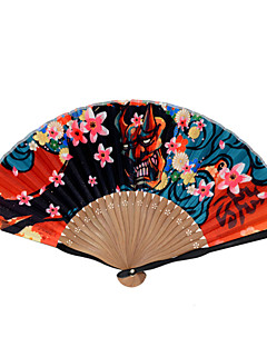 Silk Fans and parasols - 1 Piece/Set Hand Fans Asian Theme / Floral Theme / Classic Theme / Fairytale Theme Red