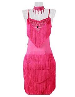 ריקוד לטיני שמלות בגדי ריקוד נשים ביצועים מילק פייבר גדיל (ים) חלק 1 בלי שרוולים שמלות 85