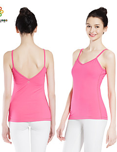 Outros ® Ioga tops Respirável / Vestível / wicking / Enchimento Removível Stretchy Wear Sports Ioga Mulheres