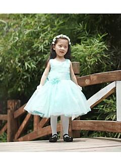 Ball Gown Knee-length Flower Girl Dress - Tulle Sleeveless with