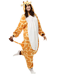 Adorável Yellow Giraffe Polar Kigurumi pijamas dos desenhos animados Sleepwear animal Halloween Costume
