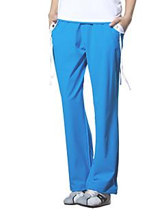 Yoga Pants Fundos Respirável / Alta Respirabilidade (>15,001g) / Elástico Natural Stretchy Wear SportsVerde / Vermelho / Preto / Azul /