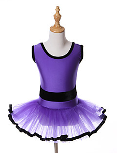 kids dance costumes Ballet Tutus & Skirts / Dresses / Tutus Children's Performance / Training Spandex / Tulle Sash