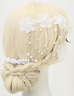 Women's / Flower Girl's Alloy / Imitation Pearl / Polyester Headpiece - Wedding / Special Occasion Hair Combs 1 Piece