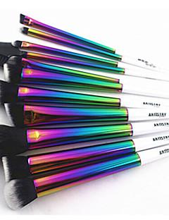 11Set di pennelli / Pennello per cipria / Pennello per ombretto / Pennello per ciglia / Pennello per correttore / Pennello per polveri /