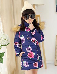 Rembourré Coton Fille de Hiver Polyester Bleu / Rose