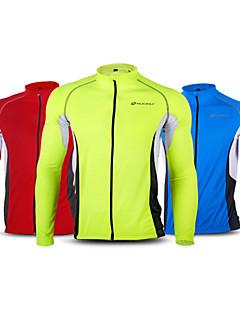 NUCKILY® Cyklodres Dámské / Unisex Dlouhé rukávy Jezdit na koleProdyšné / Rychleschnoucí / Větruvzdorné / Anatomický design / Všitá taška