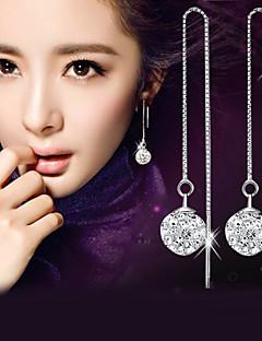 Tropfen-Ohrringe Imitation Diamant Modisch Elegant Sterling Silber Krystall Diamantimitate Kugel Silber Schmuck FürHochzeit Party Alltag