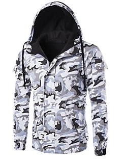 Heren camouflage Gewatteerd Jas-Casual/Dagelijks Eenvoudig Katoen Katoen Lange mouw