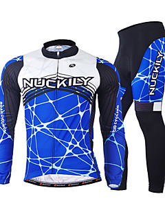 NUCKILY® Cycling Jacket with Pants Men's Long Sleeve BikeBreathable / Thermal / Warm / Anatomic Design / Fleece Lining / Insulated /