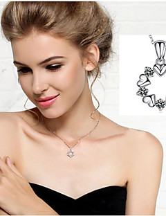 Necklace Pendant Necklaces / Chain Necklaces Jewelry Wedding / Party / Daily / Casual Birthstones Silver Plated 1pc Gift