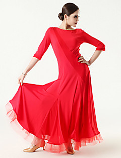 Imported Nylon Viscose and Tulle Ballroom Dance Dresses for Women's Performance(More Colors)