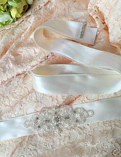 Satin Wedding / Party/ Evening / Dailywear Sash - Sequins / Beading / Appliques / Pearls / Rhinestone Women's Sashes