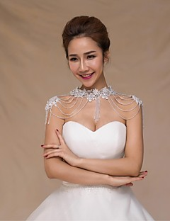 Wedding  Wraps Collars Sleeveless Sequined Ivory Wedding Appliques Crystal Pearls