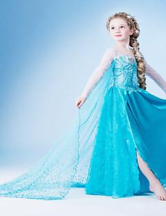 Cosplay-Asut Prinsessa Satuteema Elokuva Cosplay Sininen Leninki Halloween Joulu Uusi vuosi Lapset Sifonki