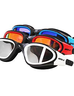SUPER-K svømmebriller Dame Herre Unisex Anti-Tåge Vandtæt Justerbar Størrelse Silika Gele PC Rød Sort Blå Andre