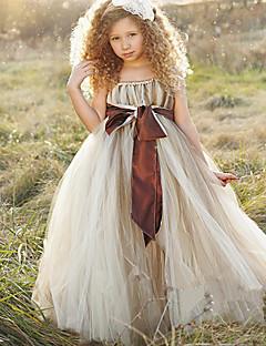 ball gown nilkka pituus kukka tyttö mekko - polyesteri hihaton spagetti hihnat nauha thstylee