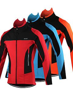 Arsuxeo® ג'קט לרכיבה לגברים שרוול ארוך אופניים נושם / שמור על חום הגוף / עמיד / עיצוב אנטומי / רצועות מחזירי אור / כיס אחוריג'קט / ג'רזי