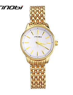 SINOBI 女性用 ファッションウォッチ 耐水 クォーツ 合金 ローズゴールドめっき バンド エレガント腕時計 ゴールド