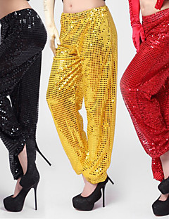 Jazz Bottoms Women's Performance Cotton Sequins 1 Piece Black / Red / Silver / Yellow