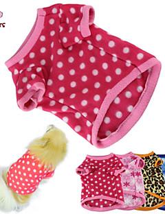 Cat / Dog Shirt / T-Shirt / Pajamas Blue / Brown / Pink / Rose Dog Clothes Winter / Spring/Fall Polka Dots Keep Warm