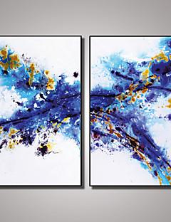 Abstrakt / Afslapning / Fotografisk / Popkunst Lærred Udskriv To paneler Klar til at hænge , Vertikal