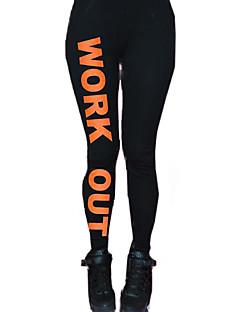 vrouwen jas potlood werken statement blogger alfabet afdruk sport leggings