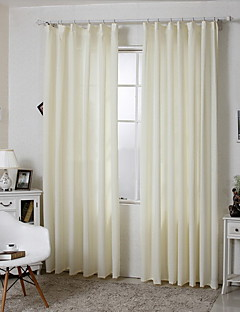 (Two Panels)Modern Elegant Stripes Jacquard  Cotton Polyester Blend Curtain(Sheer Not Included)