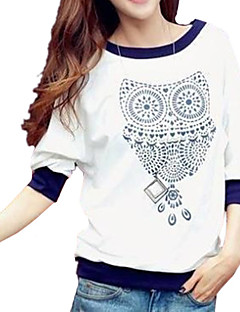 Damen T-Shirt Baumwolle ½ Länge Ärmel Rundhalsausschnitt
