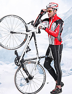 NUCKILY Fall And Winter Mountain Bike Riding Apparel For Prepare Warm Breathable Windproof Fleece Long-Sleeved Jacket