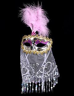 #carnival соотв # 18 * 35см электрический танец живота маска с вуалью Bohemien
