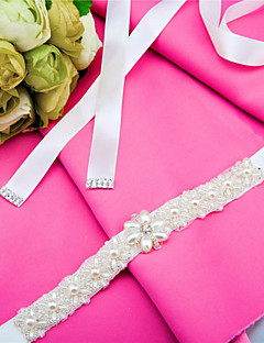 Satin Hochzeit / Party / Abend / Alltagskleidung Schärpe-Perlstickerei / Perlen / Kristall Damen 250cm Perlstickerei / Perlen / Kristall