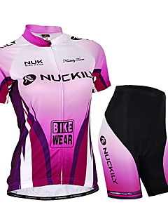 NUCKILY® Cycling Jersey with Shorts Women's / Unisex Short Sleeve BikeWaterproof / Breathable / Ultraviolet Resistant / Waterproof Zipper