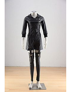 Inspired by Tokyo Ghoul Kirishima Touka Anime Cosplay Costumes Cosplay Suits Solid Black Coat / Skirt