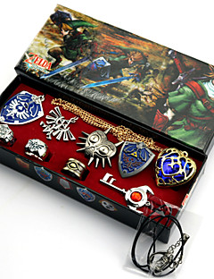 Valentine's Day Gift The Legend of Zelda Alloy Badge/Ring More Accessories Necklace(9PCS)