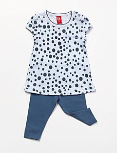 Mädchen Kleidungs Set Baumwolle Ganzjährig Blau