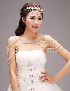 Wedding / Party/Evening / Casual Sequined Capelets Sleeveless Wedding  Wraps